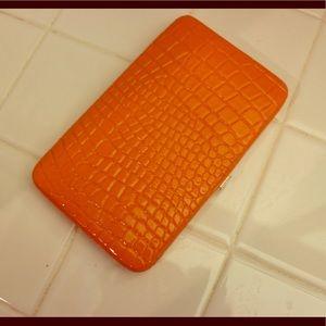 Handbags - Orange clutch
